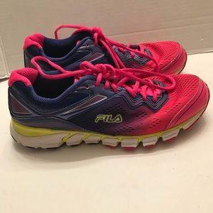 FILA Cool Max Memory Foam Running Shoes Pink 9